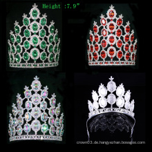 Crystal Crown Rhinestone Tiara Pageant Große Kronen